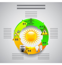 Electricity infographics Tools in circles around vector image
