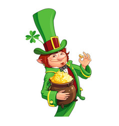 Gnome leprechaun fairy-tale vector