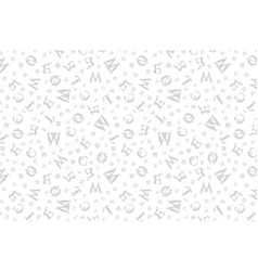Grey seamless vintage pattern with curved letters vector