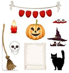 Halloween icon set vector image