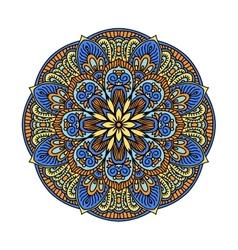Mandala pattern flower vector image