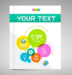 Modern paper brochure and book layout cover vector