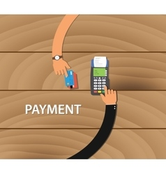 pay merchant payment debit credit card machine vector image