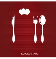 Restaurant menu with knife spoon and fork vector image vector image