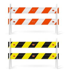 Road barriers vector