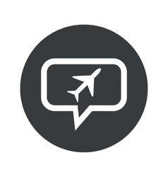 Round plane dialog icon vector image