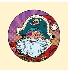Santa claus pirate vector