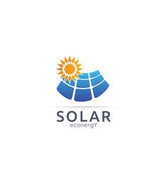 Solar panel energy logo icon zero waste concept vector