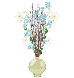 Spring flowers in a vase2 vector