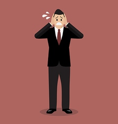 Stressed business man vector image vector image