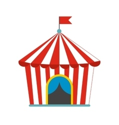 Vintage circus tent flat icon vector image