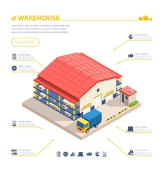 Warehouse Building Isometric vector image vector image