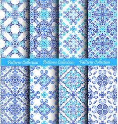 Weave patterns blue backgrounds vector