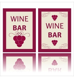 Wine labels vector image