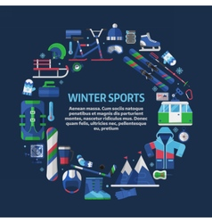 Winter Sports Card Template vector image vector image
