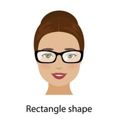 woman rectangle face shape vector image