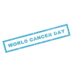World cancer day rubber stamp vector
