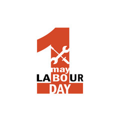 Labour day 1st may logo vector