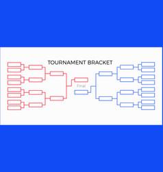 tournament bracket vector image