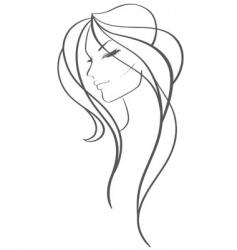 women profile vector image