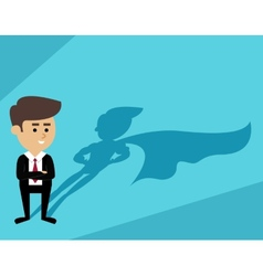 Businessman superman shadow vector