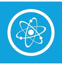 Atom sign icon vector