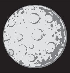Moon cartoon vector image