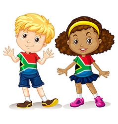 Boy and girl from south africa vector