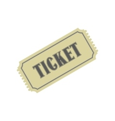 Vintage ticket flat icon vector