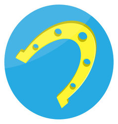 Horseshoes gold lucky icon vector
