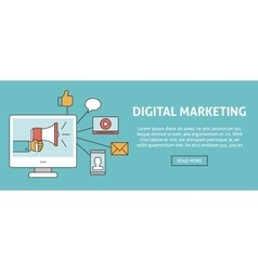 Digital marketing concept banner vector