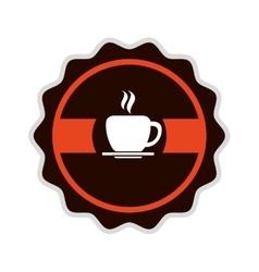Coffee shop label icon vector