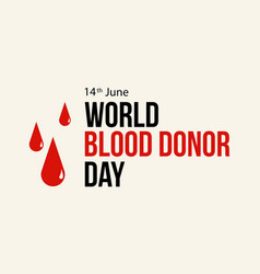 Background blood donor day theme style vector