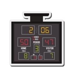 Basketball scoreboard icon vector