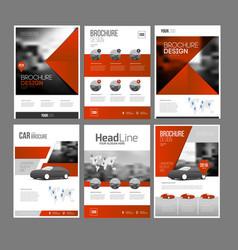 brochure layot set vector image vector image