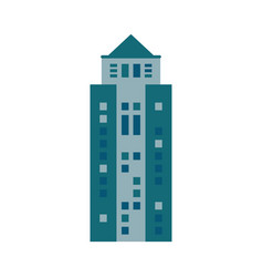 Building urban skyscraper icon vector
