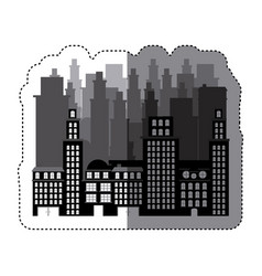 city buildings icon image vector image vector image