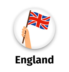 england flag in hand round icon vector image