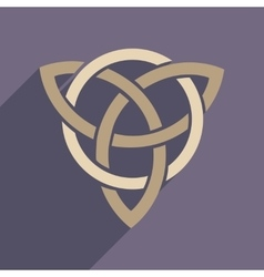 Flat web icon with long shadow celtic symbol vector image vector image