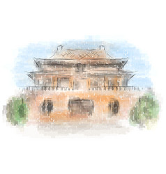 forbidden city beijing vector image