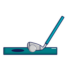 Golf club and ball icon cartoon style vector