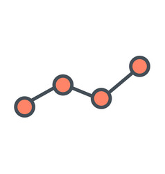 growing business graph line icon chart symbol vector image vector image