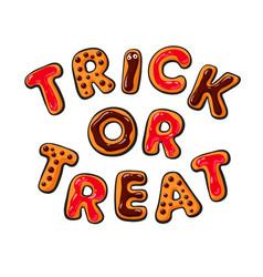 Halloween cookies vector