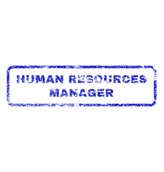 Human resources manager rubber stamp vector