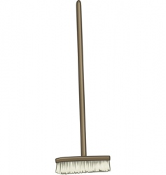 Large broom vector