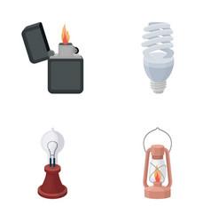 Lighter economical light bulb edison lamp vector