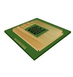 microprocessor vector image