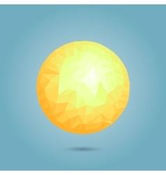 Modern geometric sun vector image vector image