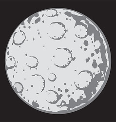 Moon cartoon vector image
