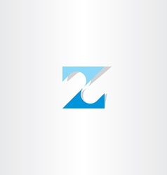 number 2 two or letter z blue icon logo vector image vector image